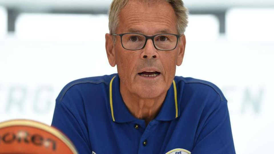 Hermann Schüller, Geschäftsführender Gesellschafter der EWE Baskets Oldenburg. Foto: picture alliance / Carmen Jaspersen/dpa/Archivbild