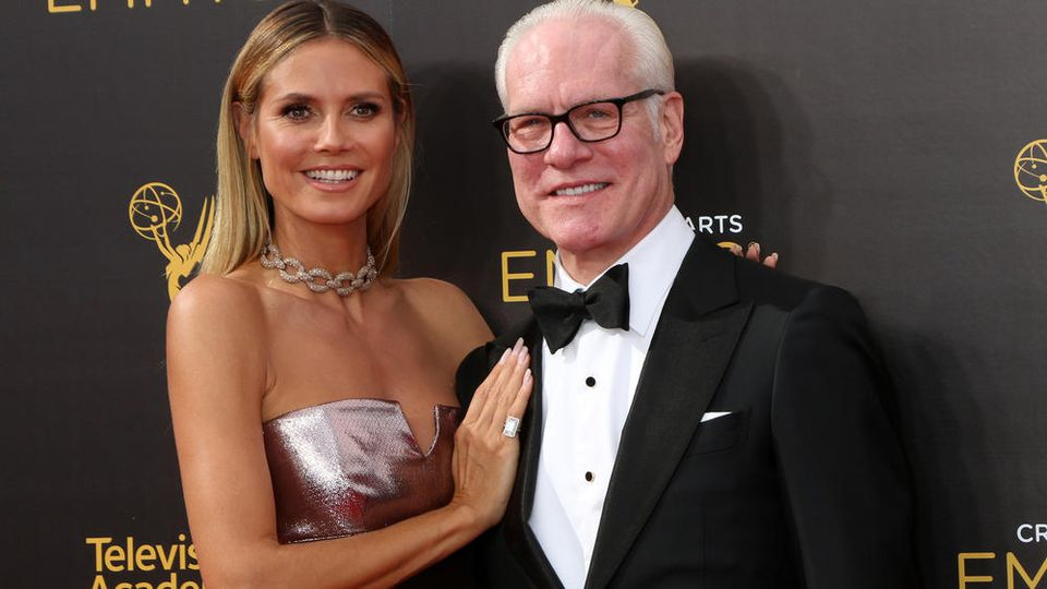 Heidi Klum hat bei ihren TV-Auftritten oftmals Designer Tom Gunn an ihrer Seite