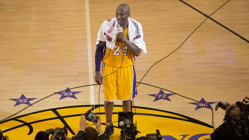 """Kobe Bryant verabschiedet sich im April 2016 mit den Worten """"Mamba out"""""""