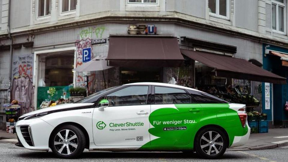 "Ein Auto des Anbieters ""Clevershuttle"". Foto: CleverShuttle/dpa"