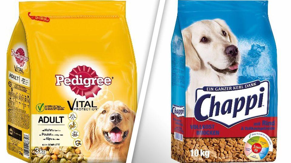 Mehrere Hunde-Trockenfutter der Marken Pedigree und Chappi sind vom Rückruf betroffen.