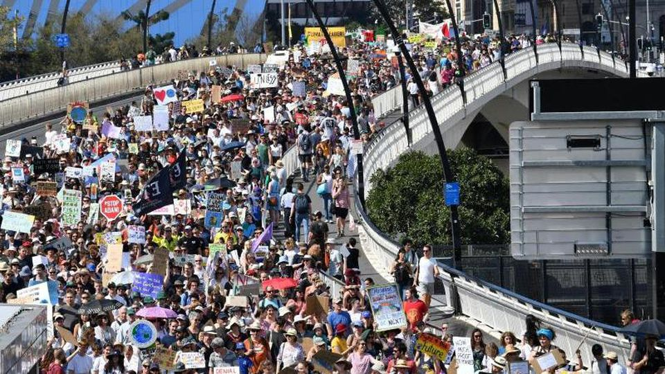 Klimastreik im australischen Brisbane. Foto: Darren England/AAP