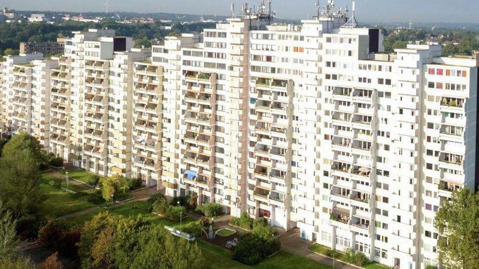 Der Wohnkomplex Hannibal II in Dortmund. Foto: Arnulf Stoffel/dpa