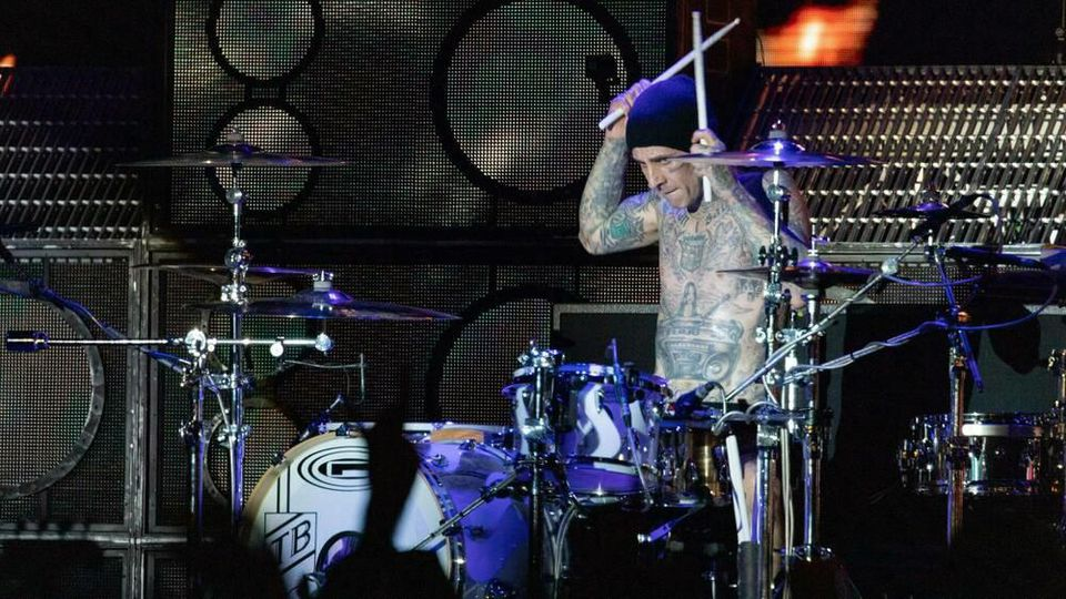 Travis Barker von Blink-182 während eines Auftritts im vergangenen Jahr