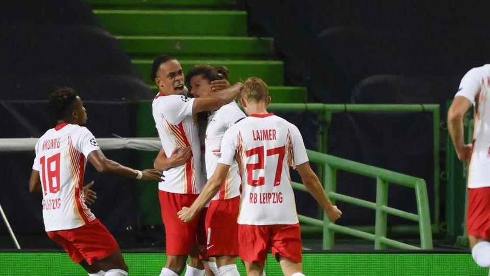 RB Leipzig erreichte das Halbfinale der Champions League. Foto: Lluis Gene/Pool AFP/AP/dpa