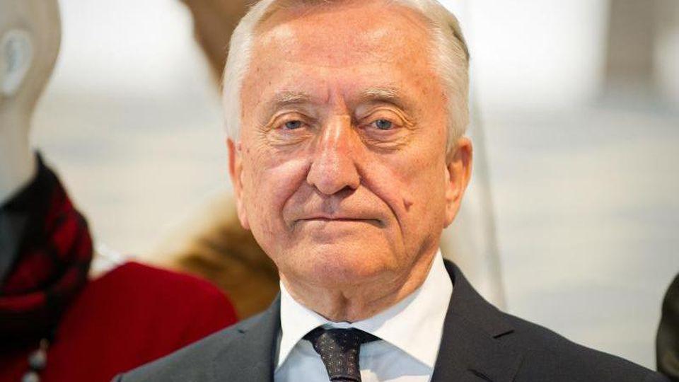 Gerhard Weber, vor einer Pressekonferenz im Jahr 2014. Foto: picture alliance / dpa/Archiv