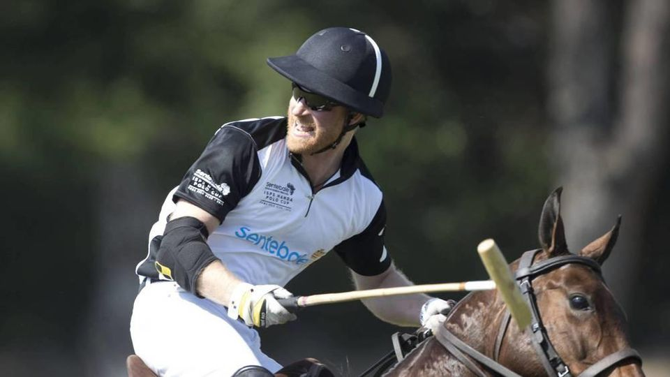 Prinz Harry beim Polo-Turnier in Italien