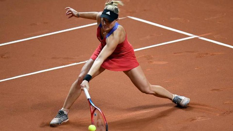 Angelique Kerber in Aktion. Foto: Thomas Kienzle/AFP-Pool/dpa