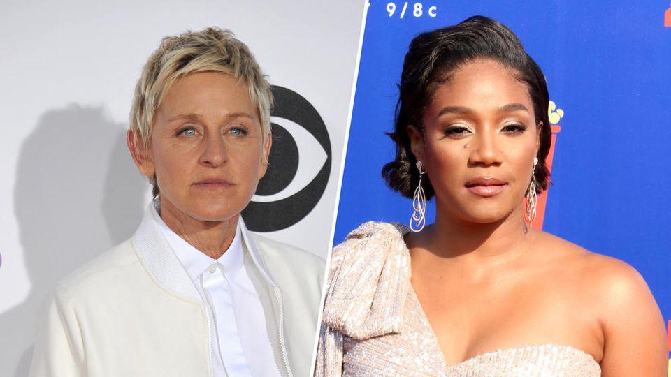 Wird Tiffany Haddish (r.) nach Ellen DeGeneres die neue Queen der US-Talkshow-Moderatoren?