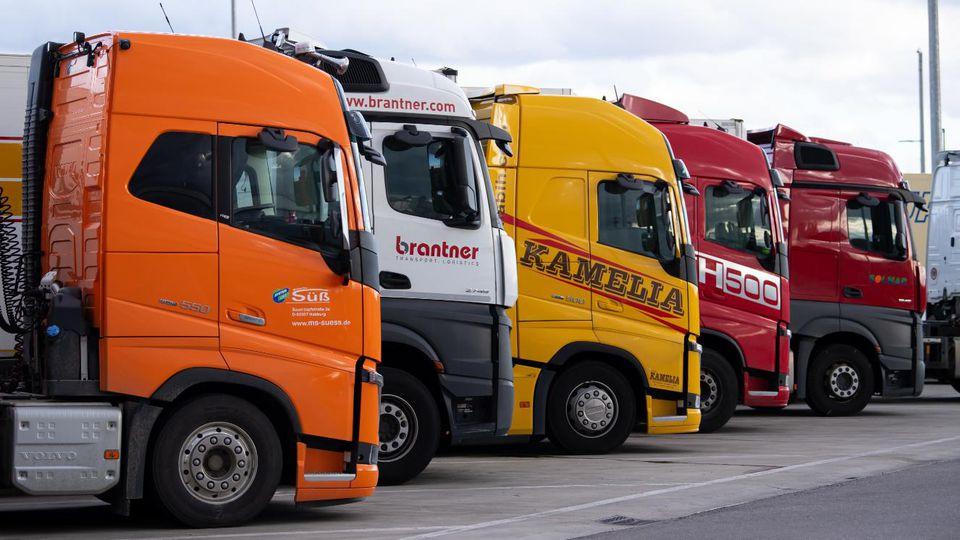 Lastwagen-Parkplatz (Symbolfoto).