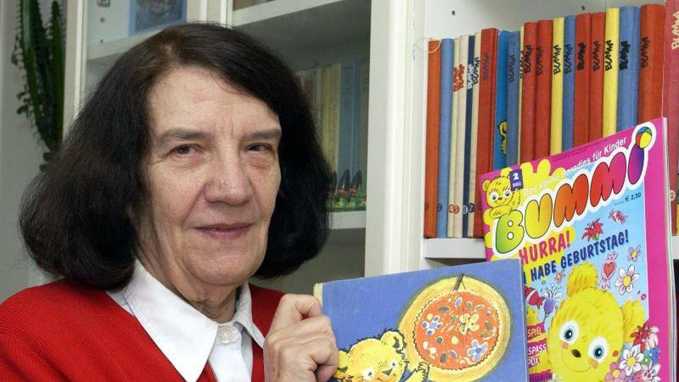 """Ursula Böhnke-Kuckhoff ist die Erfinderin der Kinderzeitschrift """"Bummi"""". Foto: Bernd Settnik/dpa-Zentralbild/dpa"""