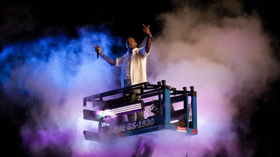 Kanye West bei einem Konzert in Schweden