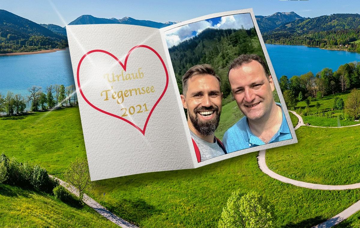 Tegernsee statt Berlin  - Spahn im Liebesurlaub in den Bergen