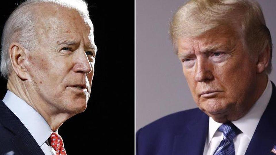 Joe Biden (l) fordert im November Amtsinhaber Donald Trump heraus. Foto: Rourke/Semansky/AP/dpa