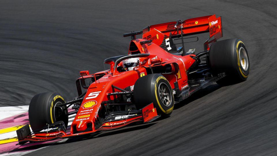 2019 French GP CIRCUIT PAUL RICARD, FRANCE - JUNE 23: Sebastian Vettel, Ferrari SF90 during the French GP at Circuit Paul Ricard on June 23, 2019 in Circuit Paul Ricard, France. (Photo by Joe Portlock / LAT Images) Images) PUBLICATIONxINxGERxSUIxAUTx