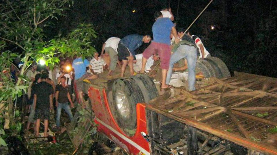 Mindestens 34 Menschen starben im Jahr 2012 in diesem vietnamesischen Reisebus. Foto: Stringer/Vietnam News Agency