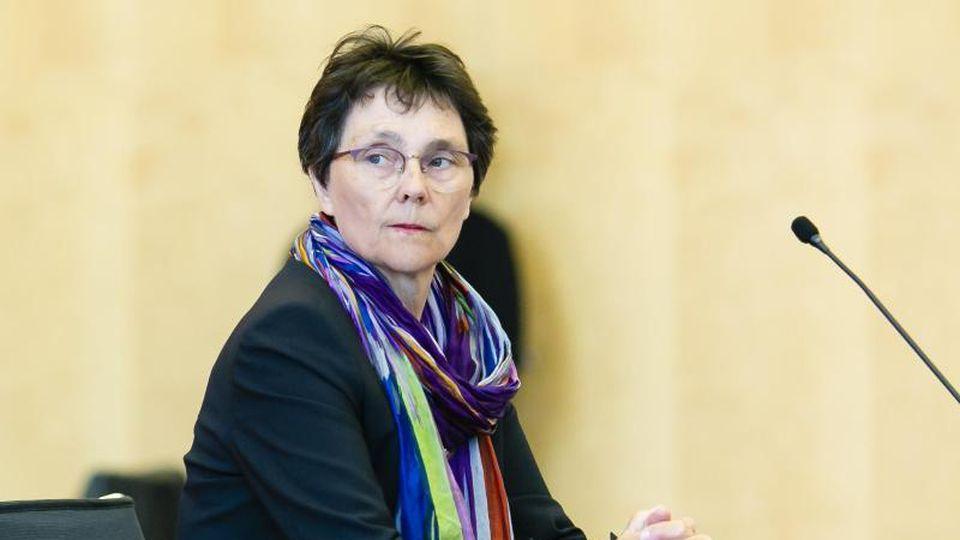 Monika Heinold (Bündnis 90/Die Grünen) bei einer Pressekonferenz. Foto: Frank Molter/dpa/Archivbild