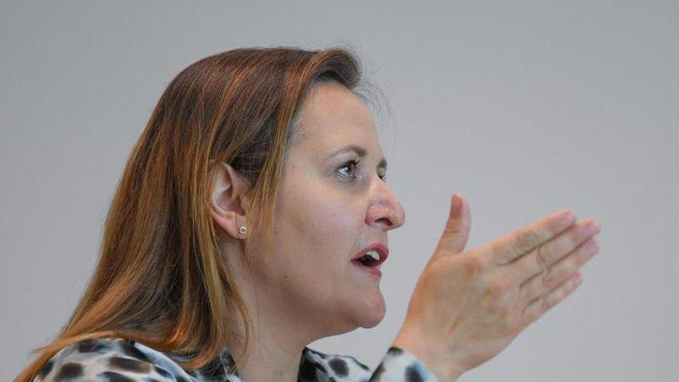 Manja Schüle, die Brandenburgische Wissenschaftsministerin. Foto: Patrick Pleul/dpa-Zentralbild/ZB