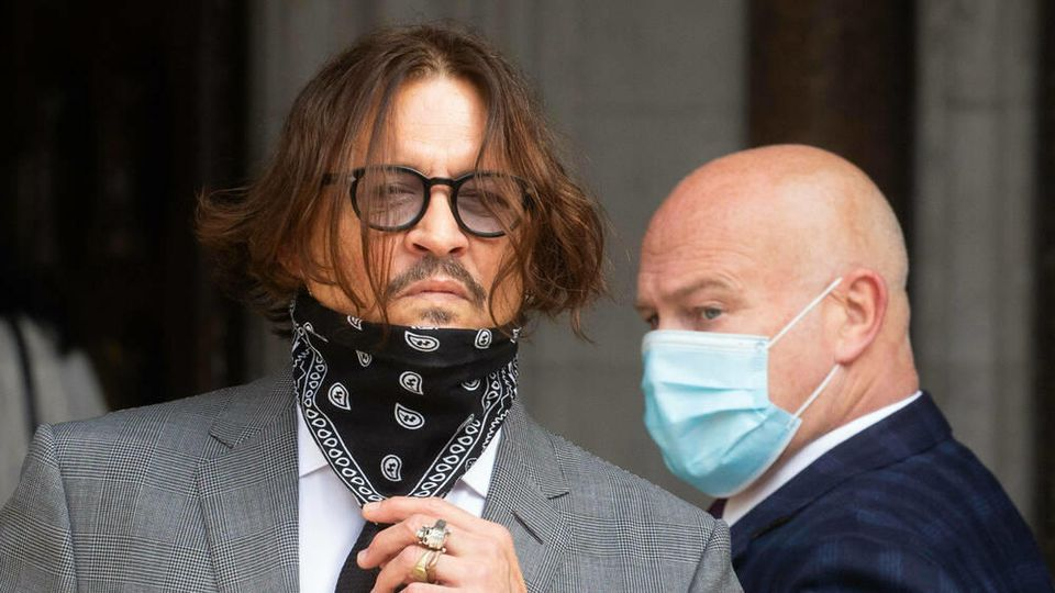 Johnny Depp am 13. Juli vor Gericht in London.