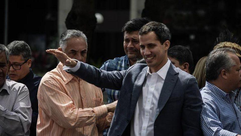 Juan Guaidó, Parlamentspräsident in Venezuela, während einer Demonstration in Caracas. Foto: Roman Camacho/SOPA Images via ZUMA Wire