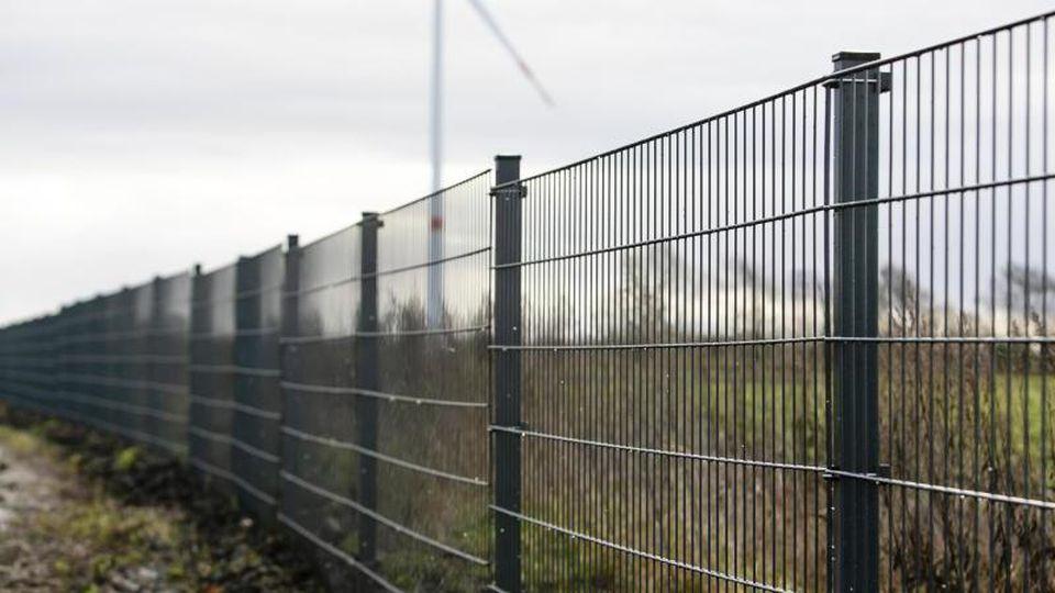 Der Wildschweinzaun steht an der deutsch-dänischen Grenze. Foto: Frank Molter/dpa/Archivbild