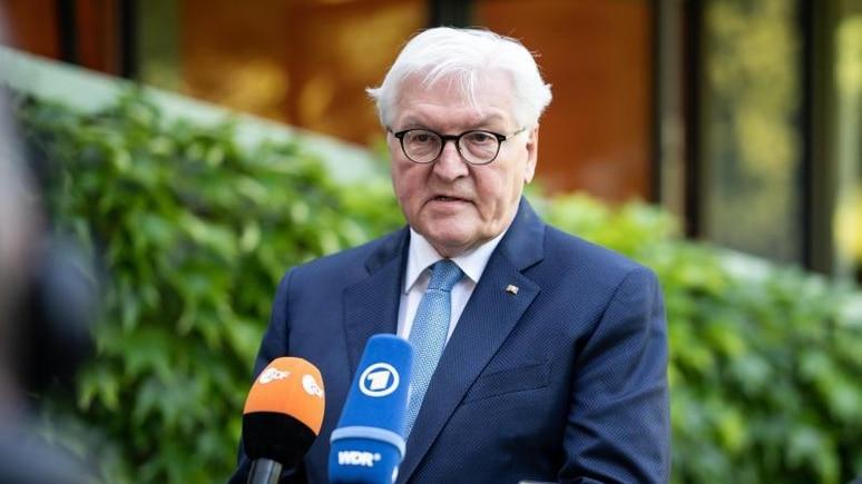 """""""Der deutsche Krieg gegen die Sowjetunion war eine mörderische Barbarei"""", so Bundespräsident Frank-Walter Steinmeier. Foto: Jörg Carstensen/dpa"""