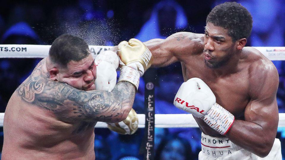 Sport Bilder des Tages Boxen, WM, Andy Ruiz - Anthony Joshua SAUDI ARABIA - DECEMBER 8, 2019: American boxer Andy Ruiz J