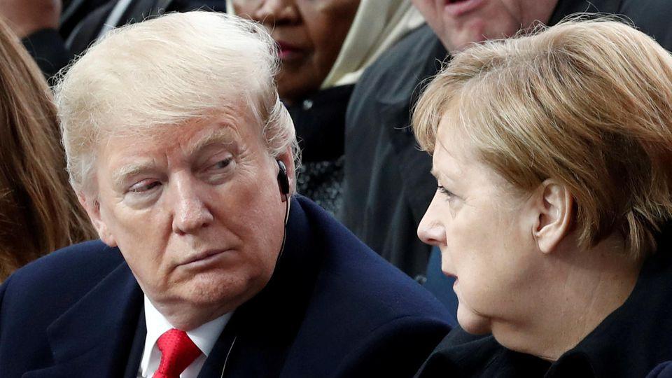 Keine Freunde: Die Ansichten von Donald Trump von Angela Merkel gehen meilenweit auseinander.