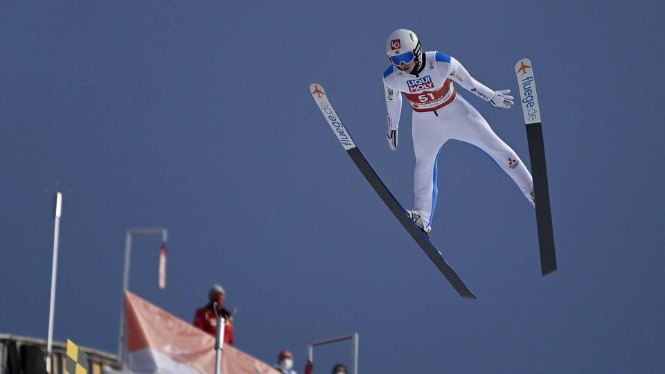CAPTION CORRECTION Halvor Egner Granerud of Norway competes during Men HS106 Normal Hill Ski jumping, Skispringen, Ski,