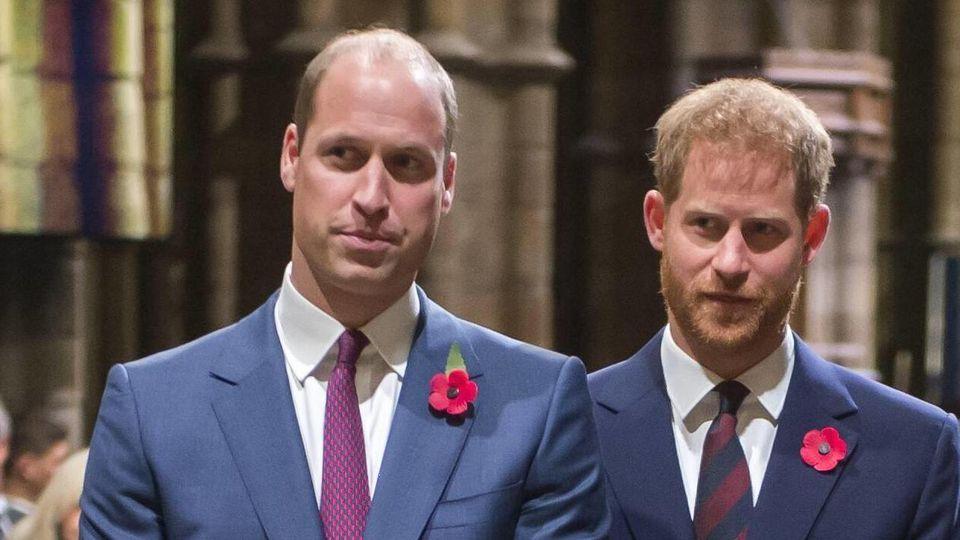 Prinz William und Prinz Harry werden sich erst auf der Beerdigung ihres Großvaters wieder persönlich gegenüber stehen.