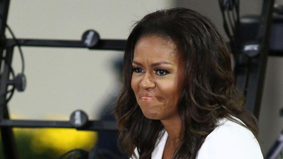 Michelle Obama steht Greta Thunberg bei