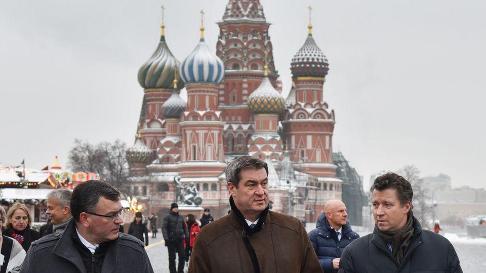 Ministerpräsident Markus Söder in Moskau