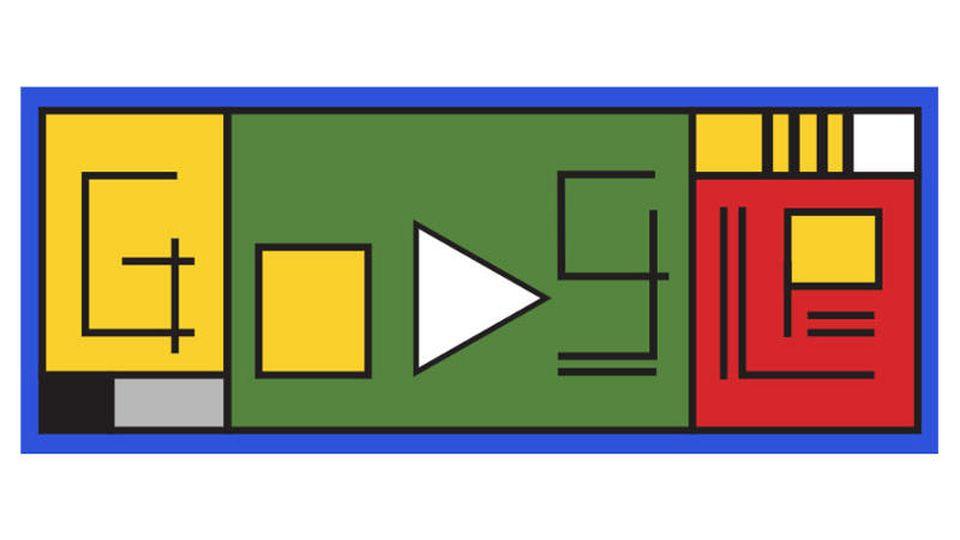 Google Doodle zu Ehren von 100 Jahren Bauhaus