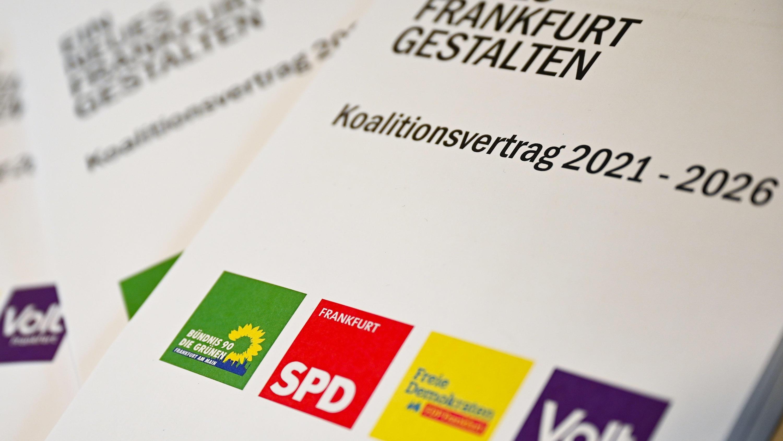 Koalitionsvertrag für «Ampel-Plus» in Frankfurt