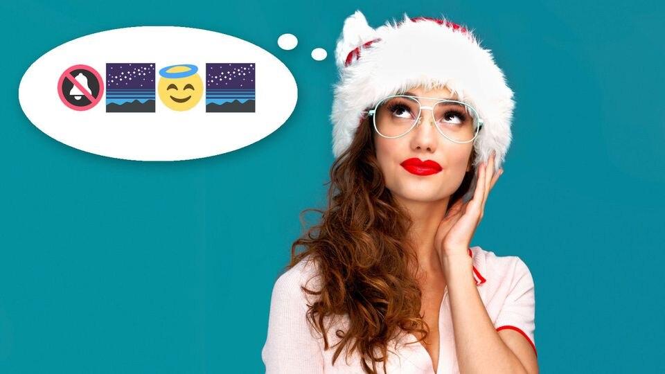 Können Sie nur anhand von Emojis erraten, welche Weihnachtslieder wir suchen?