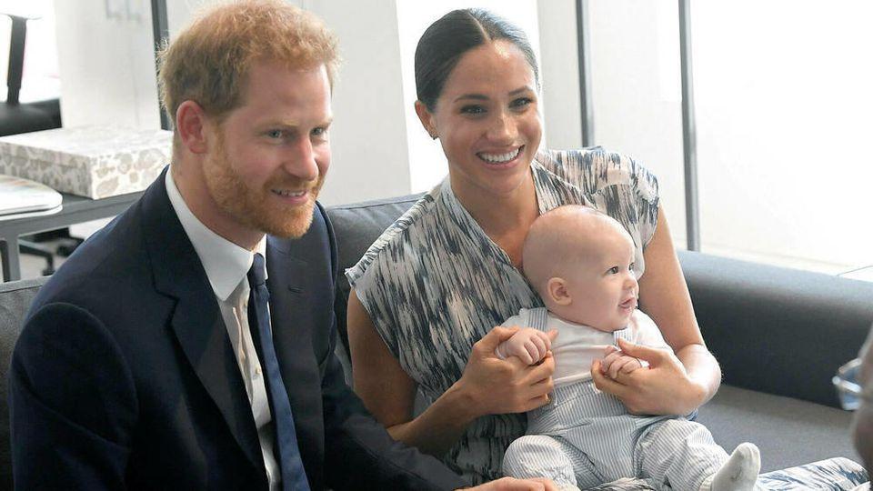 Prinz Harry und Herzogin Meghan mit Söhnchen Archie 2019