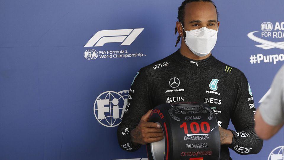 Mister 100! Lewis Hamilton raste in Barcelona zur 100. Pole seiner Karriere