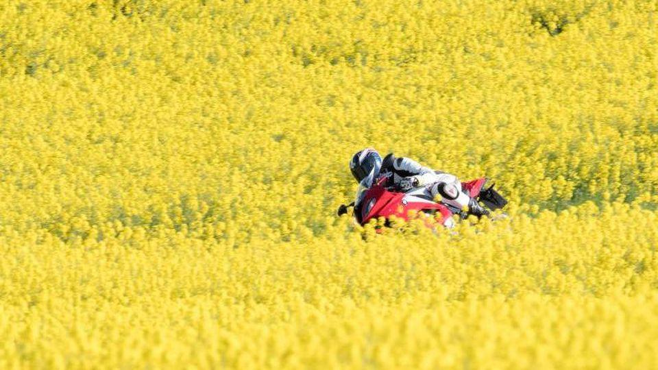 Wenn die Motorradsaison startet, müssen viele Motorradfahrer erst wieder das richtige Gefühl für ihre Maschine bekommen. Daher ist ein vorsichtiger Fahrstil geboten. Foto: Armin Weigel