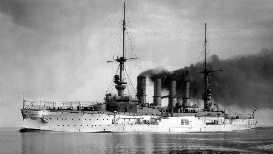 Der Panzerkreuzer SMSScharnhorst zur aktiven Zeit