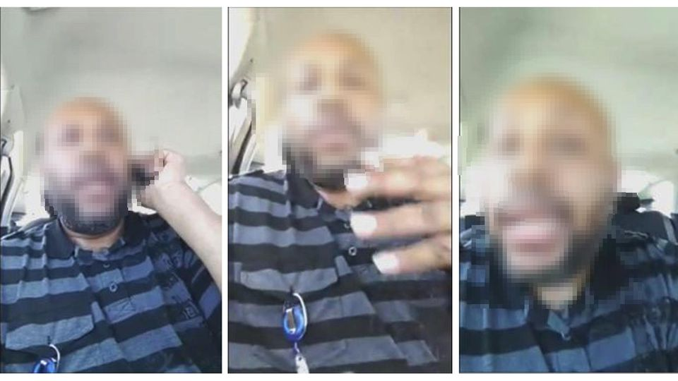A man who identified himself as Stevie Steve is seen in a combination of stills from a video he broadcast of himself on Facebook in Cleveland, Ohio, U.S. April 16, 2017.  Stevie Steve/Social Media/ Handout via REUTERS   ATTENTION EDITORS - THIS IMAGE