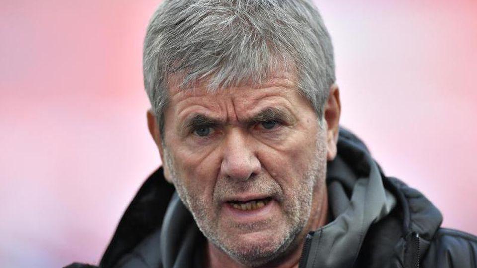 Friedhelm Funkel, Trainer des 1. FC Köln. Foto: Martin Meissner/AP-Pool/dpa/Archivbild