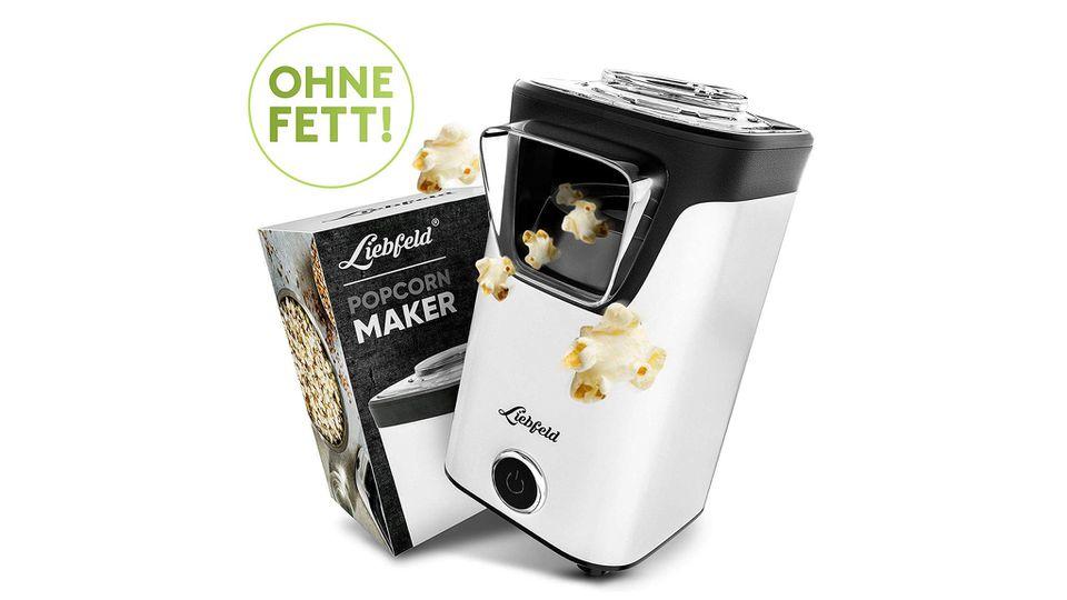 Der Popcorn-Maker von Liebfeld poppt Mais ohne Fett.
