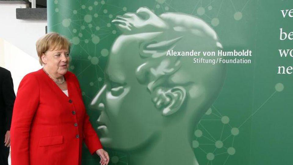 Bundeskanzlerin Angela Merkel (CDU) nimmt an der Eröffnung der Jahrestagung der Humboldt-Stiftung teil. Foto: Wolfgang Kumm