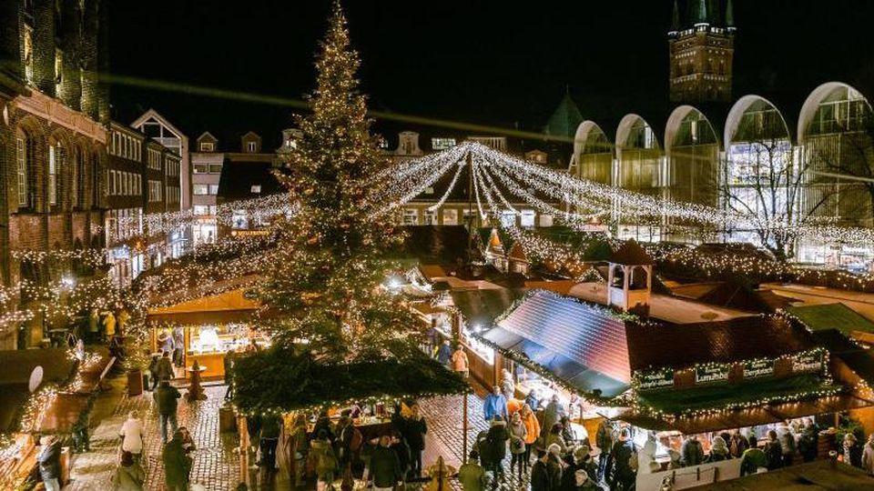 Der Lübecker Weihnachtsmarkt. Foto: Markus Scholz/Archiv