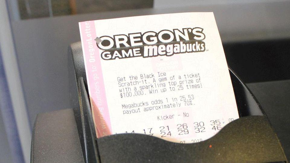 """Ein Ticket der """"Megabucks""""-Lotterie machte einen Mann aus Oregon zum Millionär."""