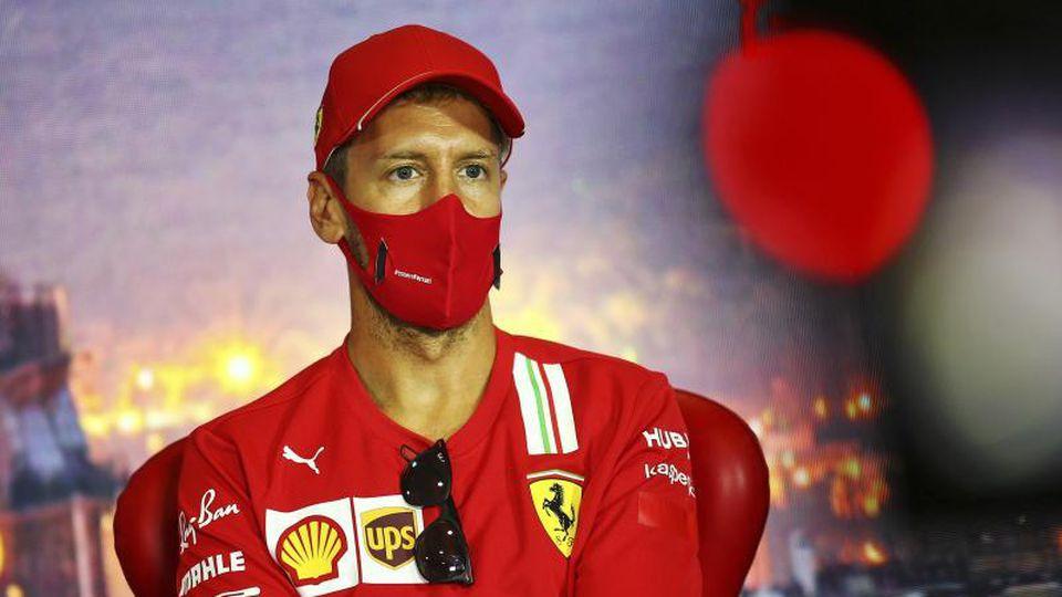 Trotz Krise im Kampfmodus:Ferrari-Pilot Sebastian Vettel. Foto: Xpb Images/POOL xpbimages.com/dpa