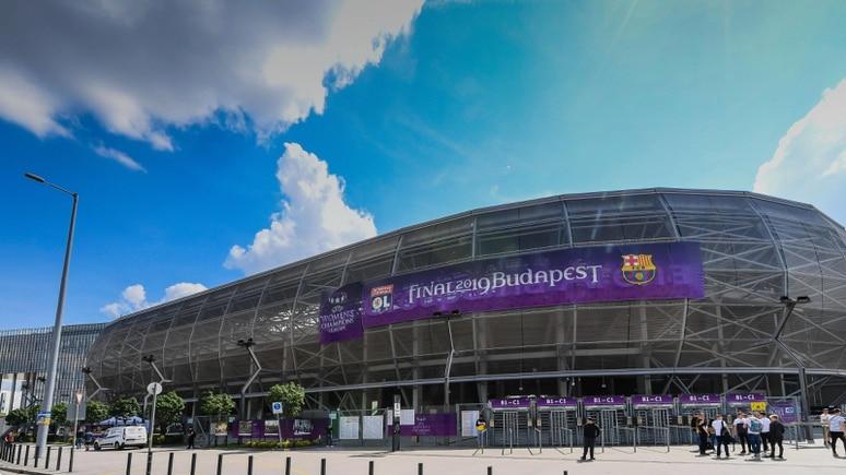 Das Stadion von Ferencvaros - hier beim Champions-League-Finale der Frauen 2018.