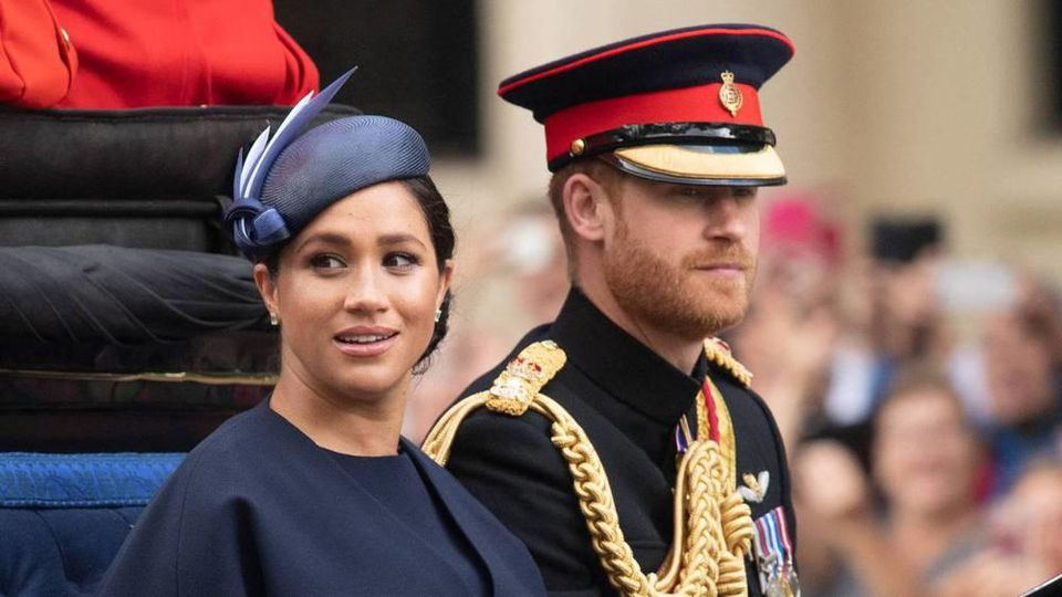 Prinz Harry und Herzogin Meghan bei Trooping the Colour