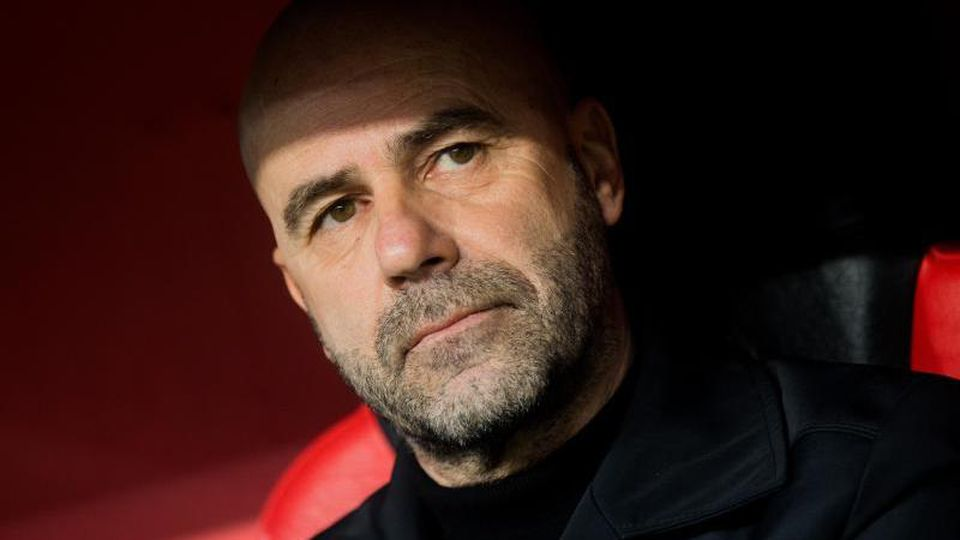Leverkusens Trainer Peter Bosz. Foto:Rolf Vennenbernd/Archiv