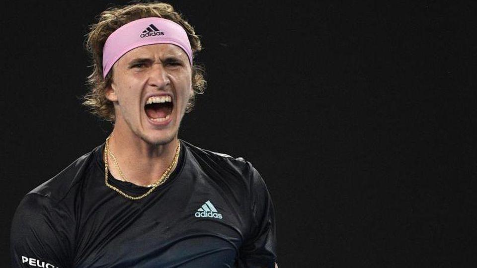 Steht in Melbourne in der dritten Runde: Alexander Zverev. Foto: Andy Brownbill/AP